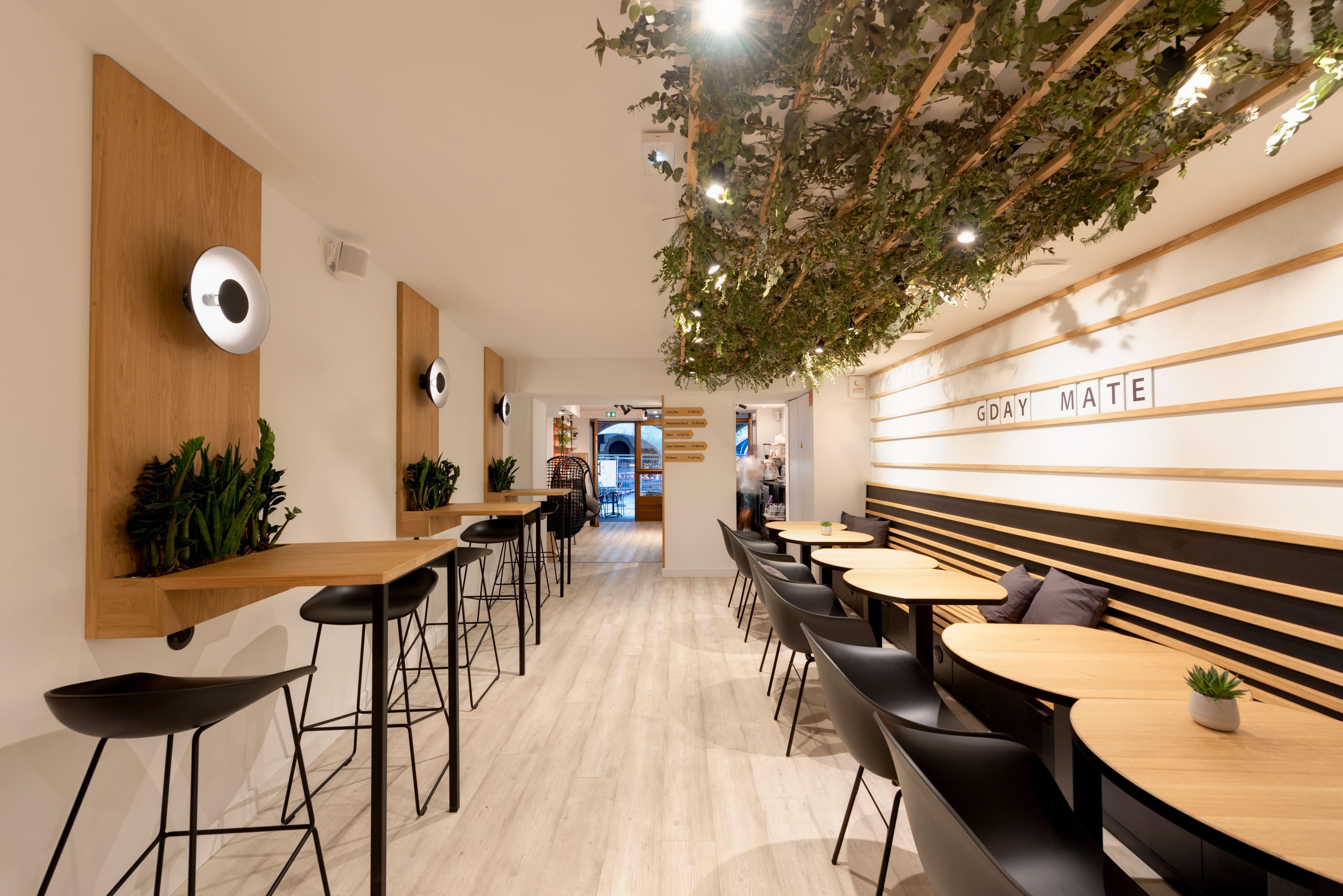 Agencement interieur design métallique ROBI restaurant Haven Annecy 74 agencement en metal 4
