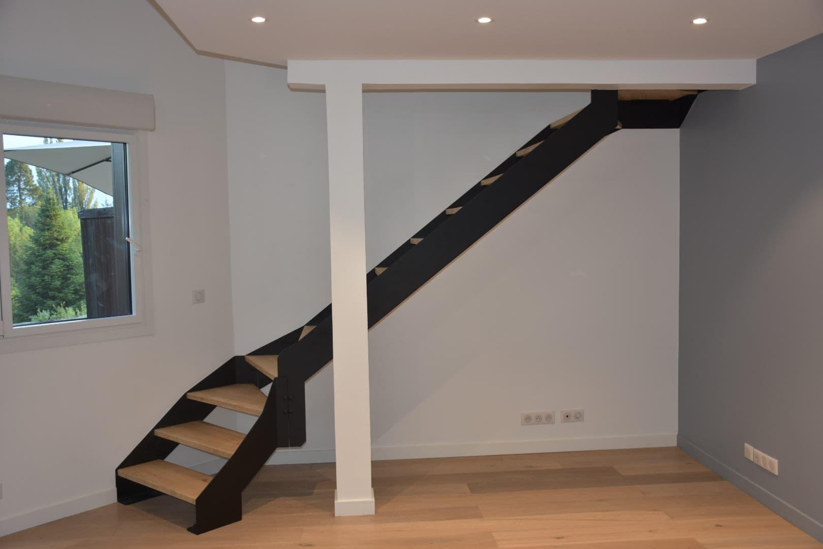 Escalier acier bois double quart tournant ROBI Annecy (74)4