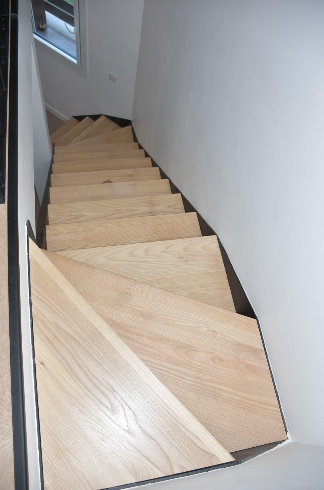 Escalier acier bois double quart tournant ROBI Annecy (74)6