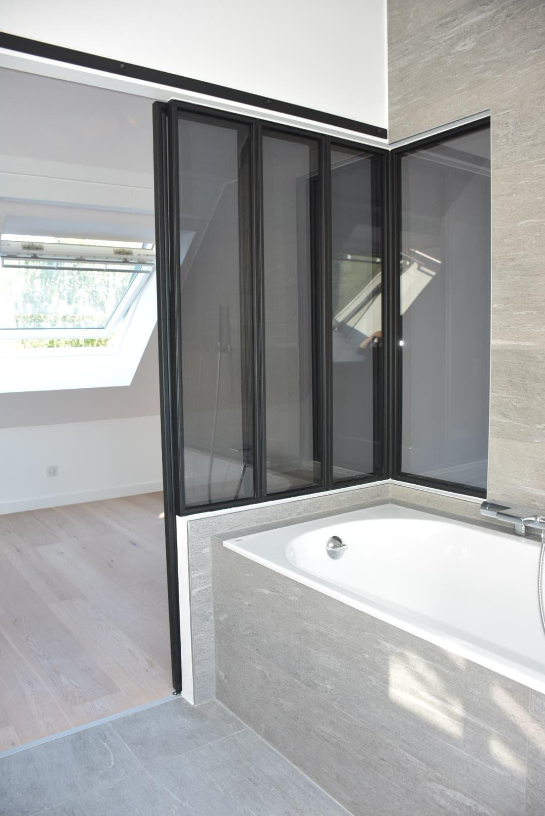 Verrière de salle de bain + porte coulissante ROBI Annecy (74)2