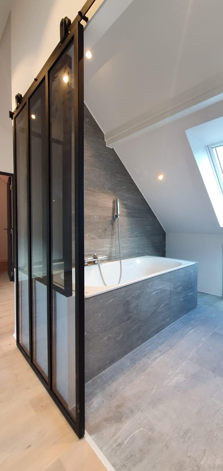 Verrière de salle de bain + porte coulissante ROBI Annecy (74)4