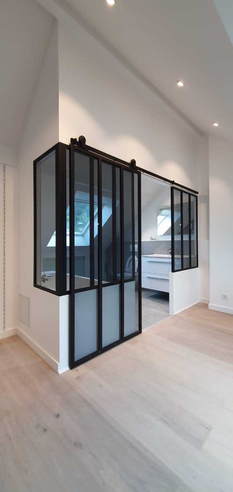 Verrière de salle de bain + porte coulissante ROBI Annecy (74)6
