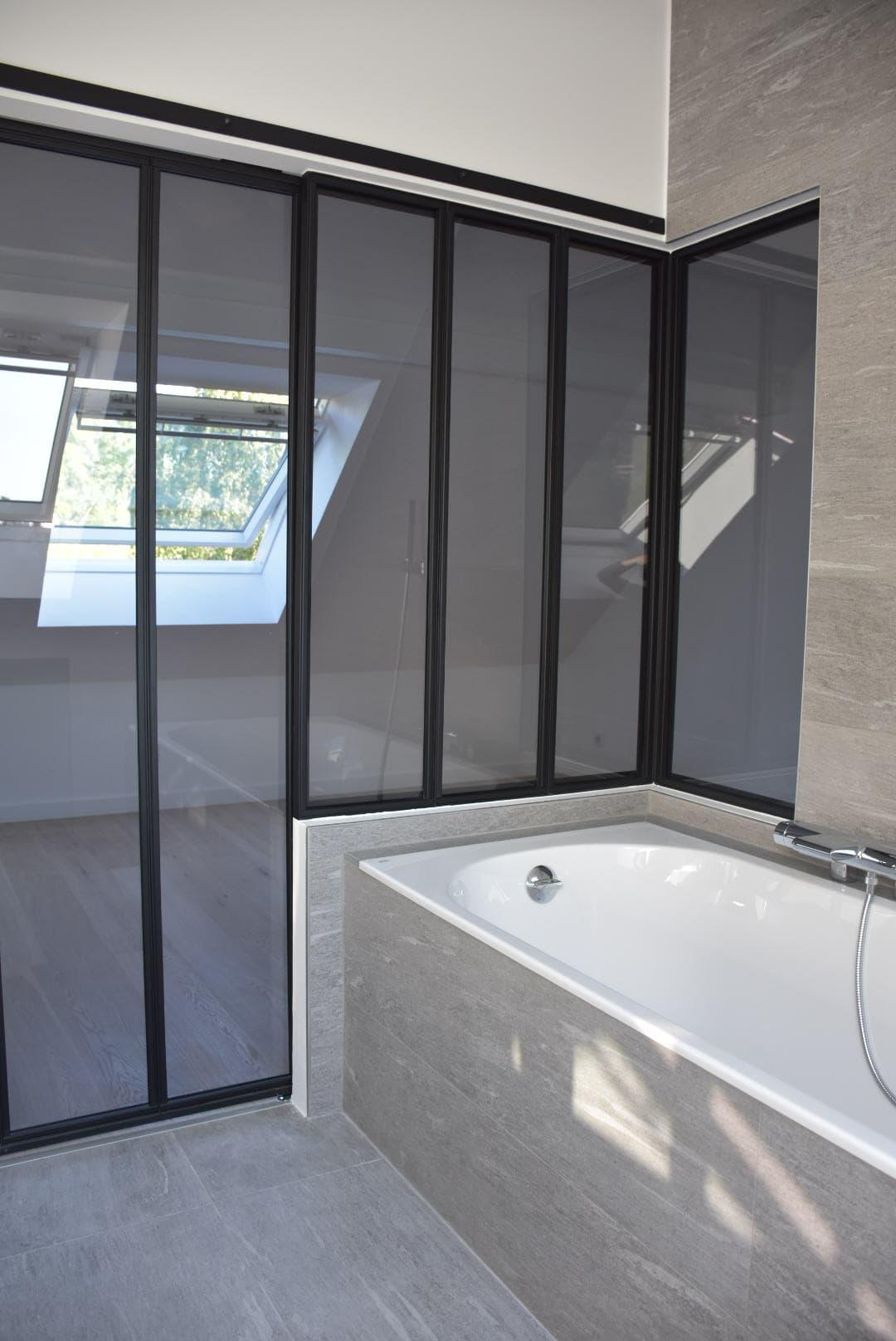 Verrière de salle de bain + porte coulissante ROBI Annecy (74)8