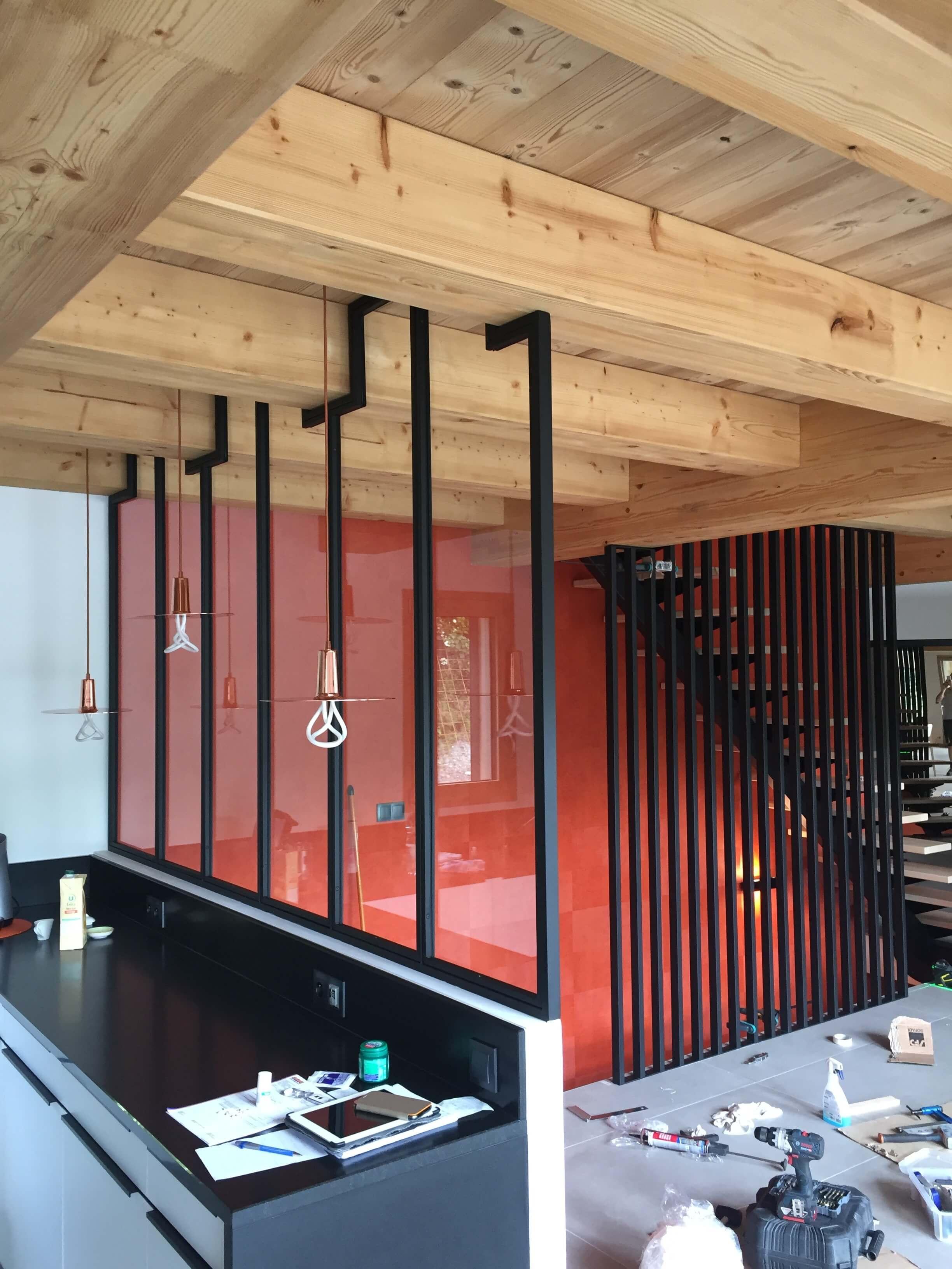 Robi design Métallique Annecy agencement intérieur verrière claustra Tarentaise 7315