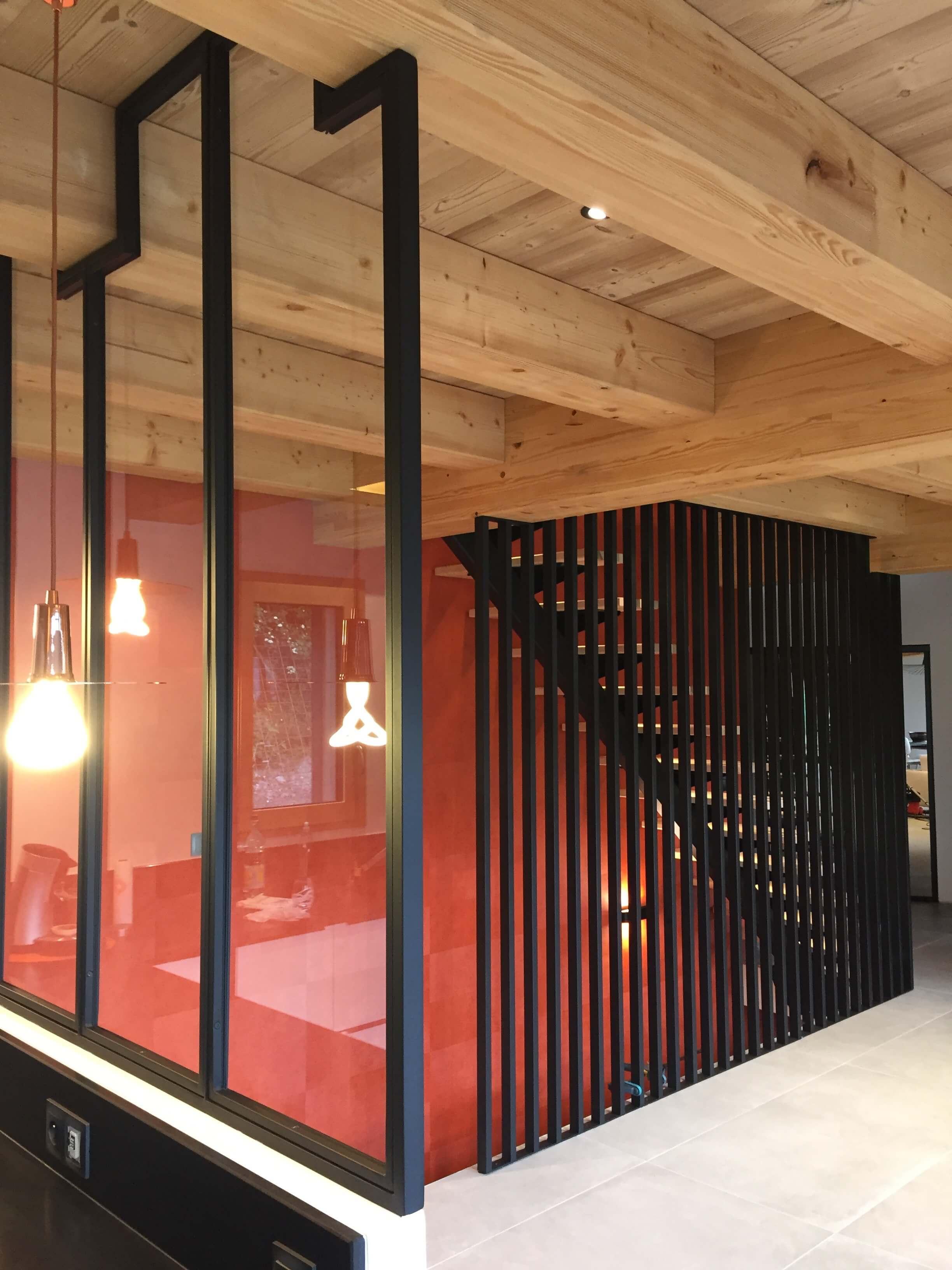 Robi design Métallique Annecy agencement intérieur verrière claustra Tarentaise 7329