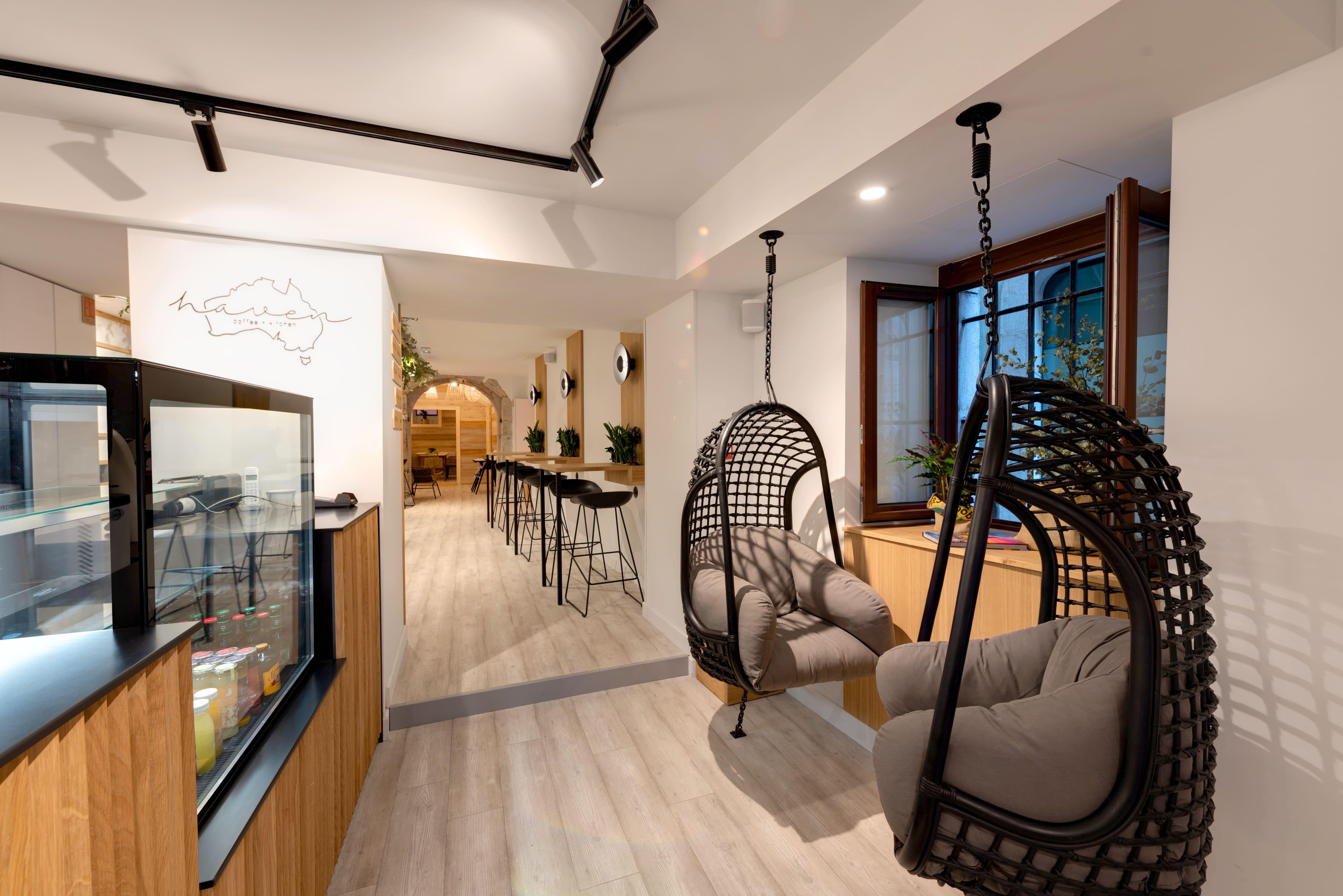 Agencement interieur design métallique ROBI restaurant Haven Annecy 74 agencement en metal 9